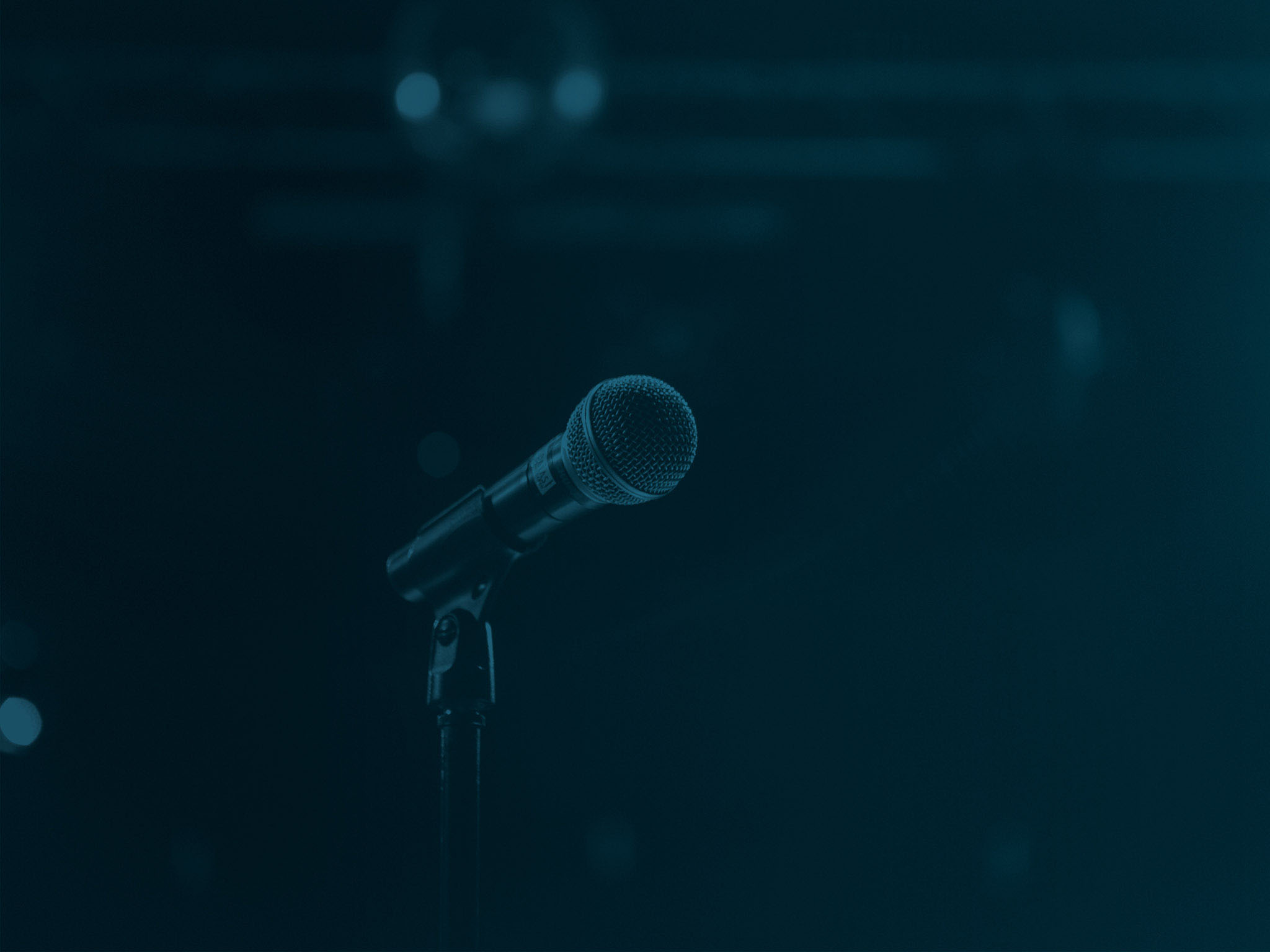 Microphone sur scene